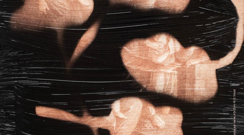 la mélancolie, 2020, pacque sur verre, 42x32 cm,